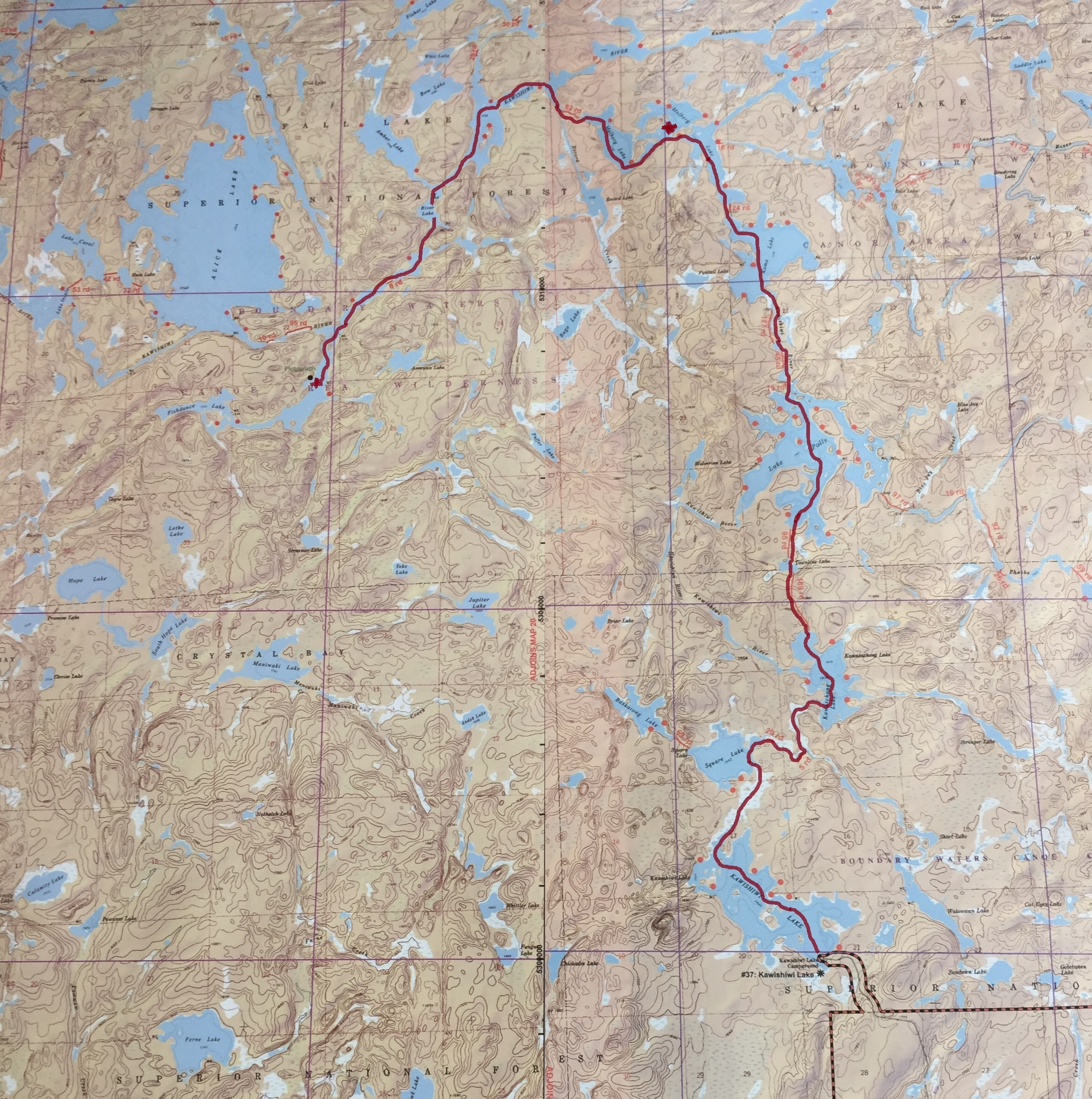 boundary waters canoe area wilderness kawishiwi maulburg polly pagami creek fire bwcaw pictographs kawishiwi river
