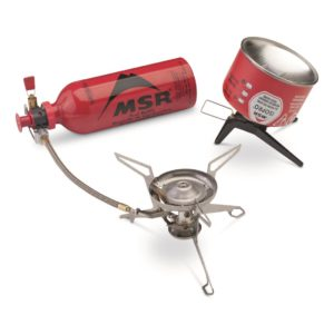 photo representation of the MSR Whisperlite Universal camp stove