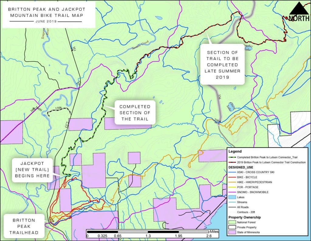 Jackpot Trail Map