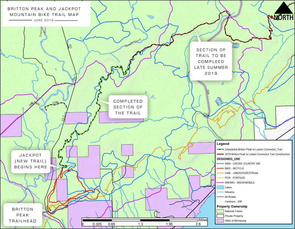 Map of Jackpot Trail