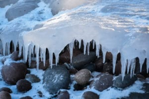 Ice formations on Lake Superior